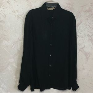 Gucci Black on Black silk Horsebit blouse Vintage